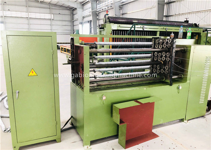 Green Gabion Box Machine Three Twist High Speed Fencing Wire Making Machine